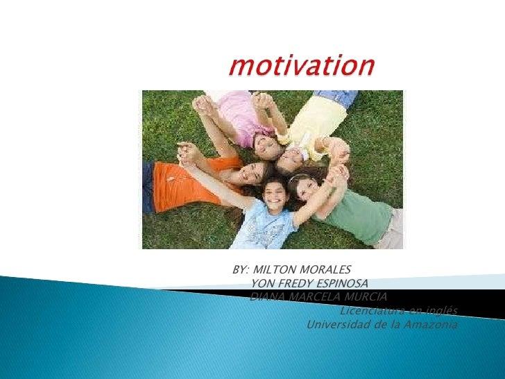 Presentacion de motivacion