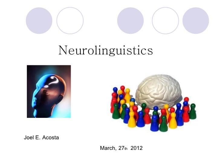Neurolinguistics Workshop