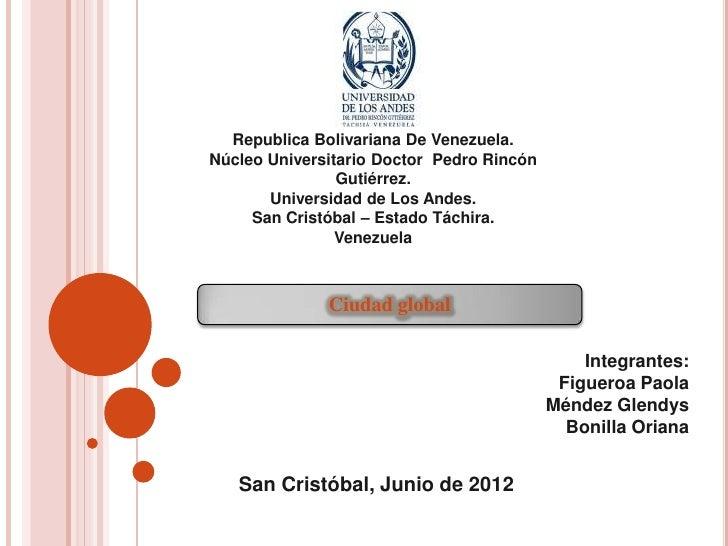 Republica Bolivariana De Venezuela.Núcleo Universitario Doctor Pedro Rincón                Gutiérrez.       Universidad de...