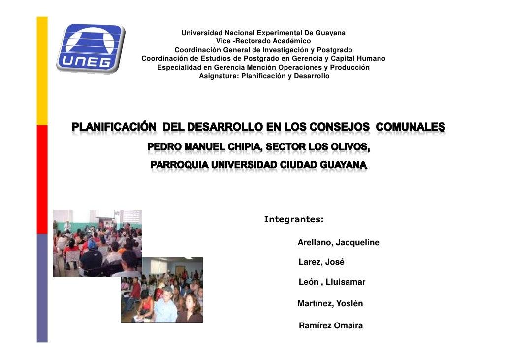 Universidad Nacional Experimental De Guayana                     Vice -Rectorado Académico         Coordinación General de...
