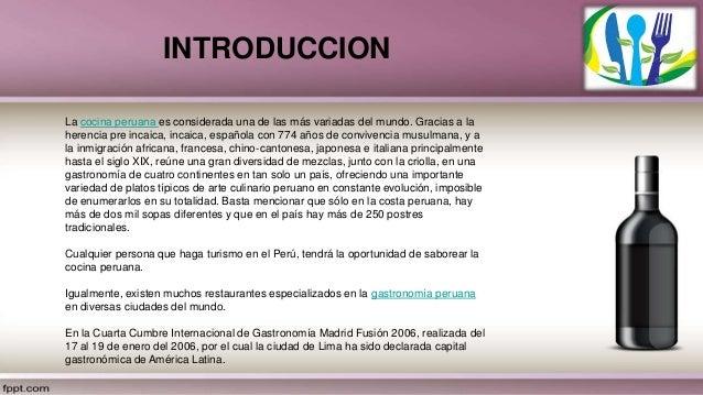 Introduccion a la gastronomia peruana pdf download