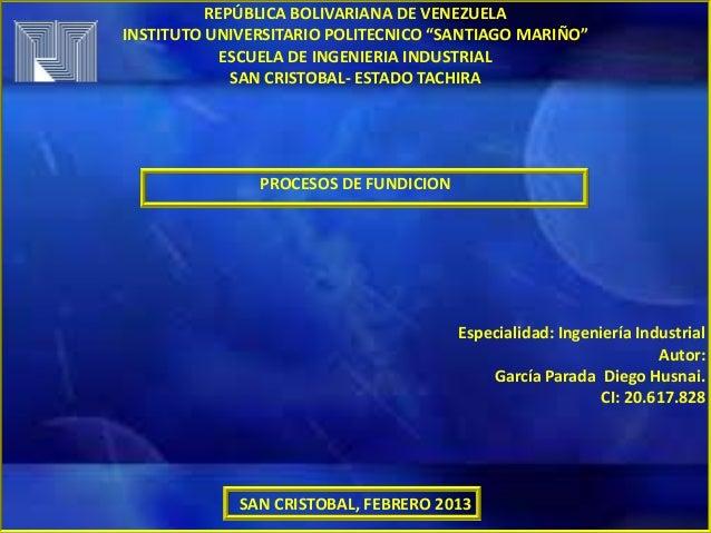 fundicion procesos: