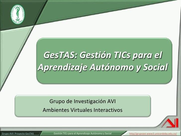 Presentacion de proyecto Gestas del Grupo AVI