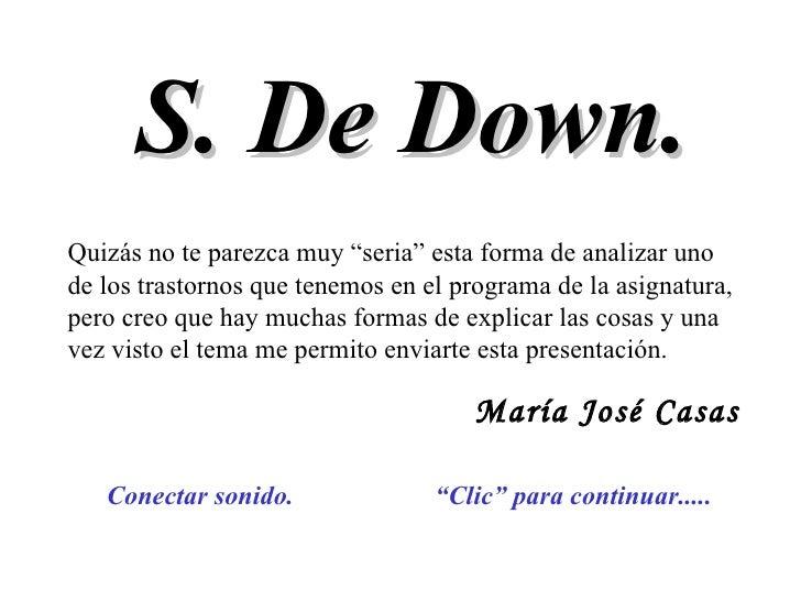 Presentacion De Sindrome De Down