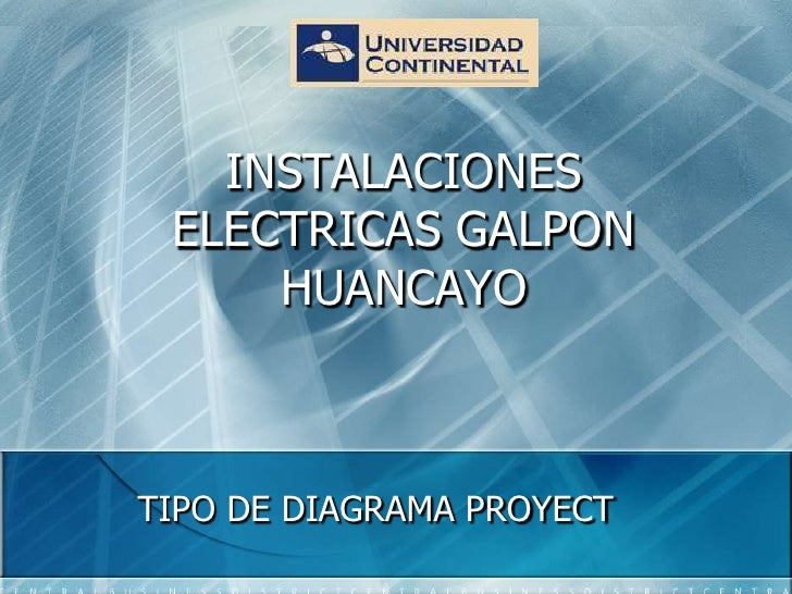 PRESENTACION POWER POINT INSTALACIONES ELECTRICAS  GALPON