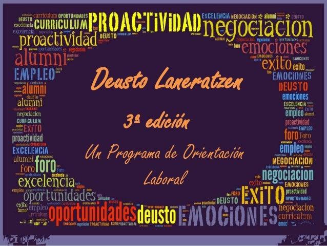 Deusto Laneratzen 3ª edición Un Programa de Orientación Laboral