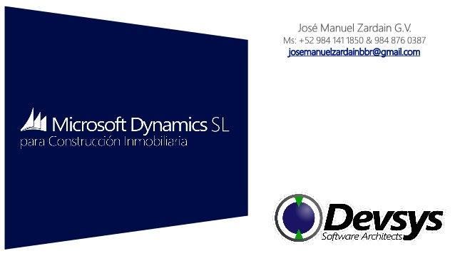Presentacion Devsys Microsoft Dynamics SL para construccion inmobiliaria