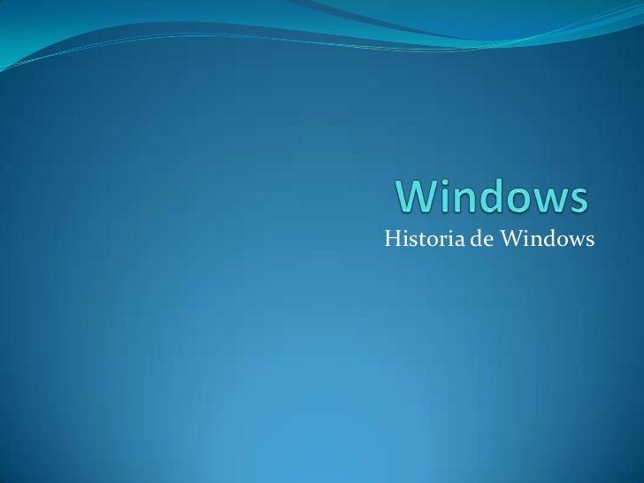 Historia de Windows