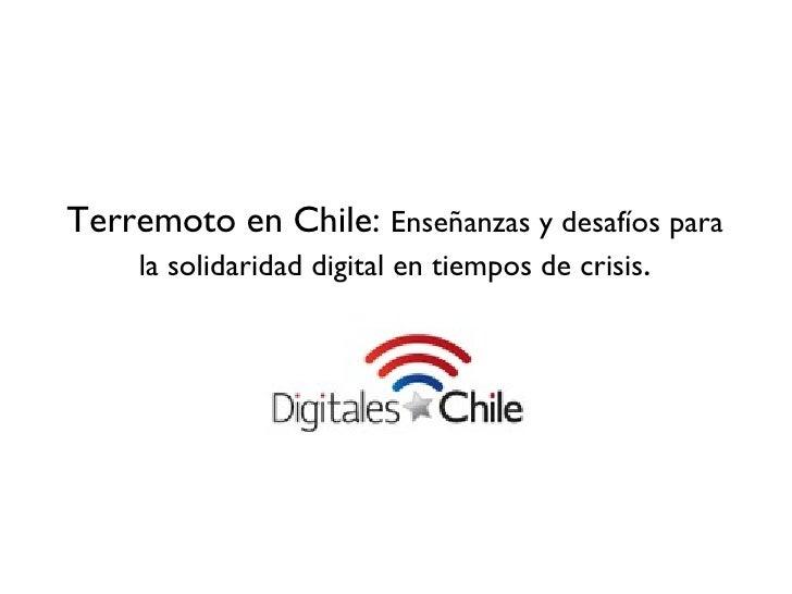 Presentacion dia humanitario digitales por chile
