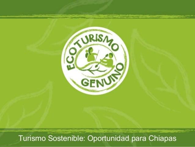 Turismo Sostenible: Oportunidad para Chiapas