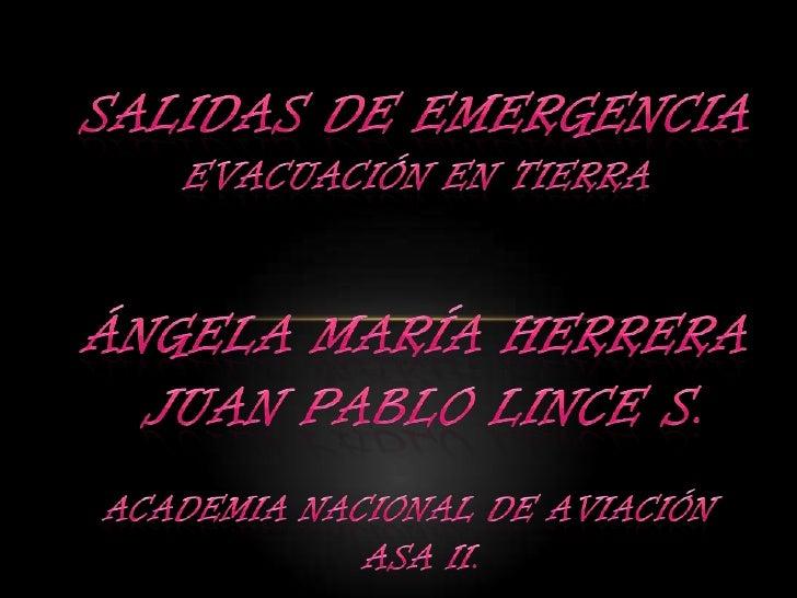 Salidas de Emergencia de un Avion Salidas de Emergencia