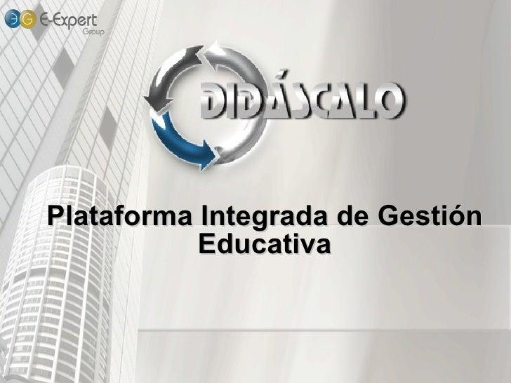 Plataforma Integrada de Gestión Educativa