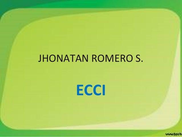 JHONATAN ROMERO S. ECCI