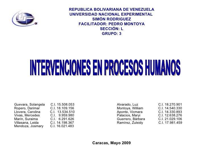 REPUBLICA BOLIVARIANA DE VENEZUELA                                 UNIVERSIDAD NACIONAL EXPERIMENTAL                      ...