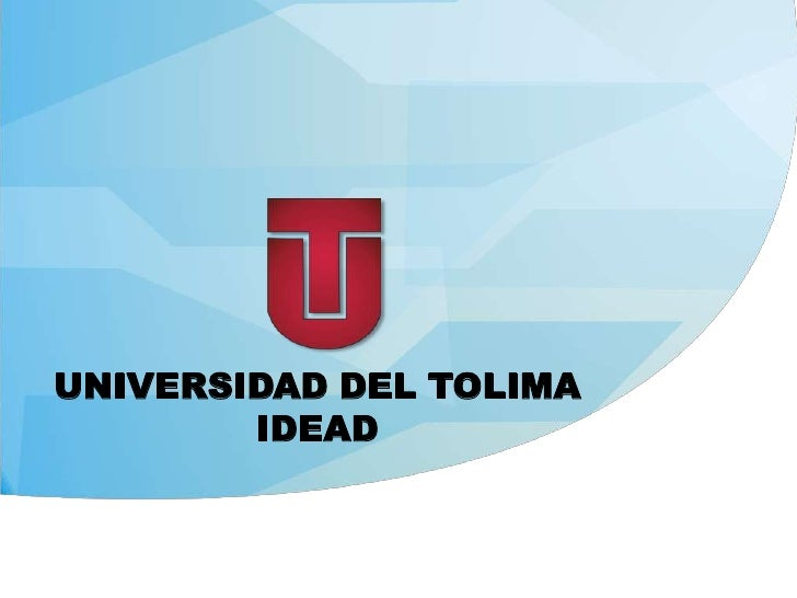 UNIVERSIDAD DEL TOLIMA  IDEAD <br />