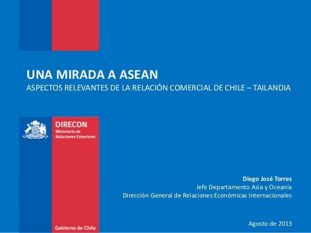Diego José Torres Jefe Departamento Asia y Oceanía Dirección General de Relaciones Económicas Internacionales Agosto de 20...