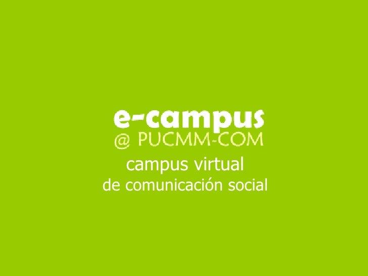 campus virtualde comunicación social