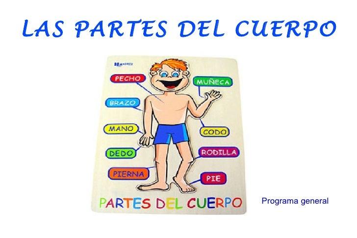 LAS PARTES DEL CUERPO                Programa general