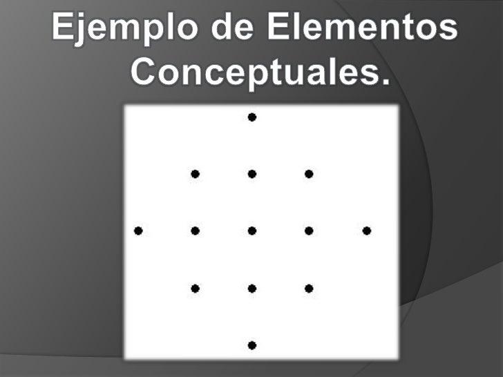 Ejemplo de Elementos <br />Conceptuales.<br />
