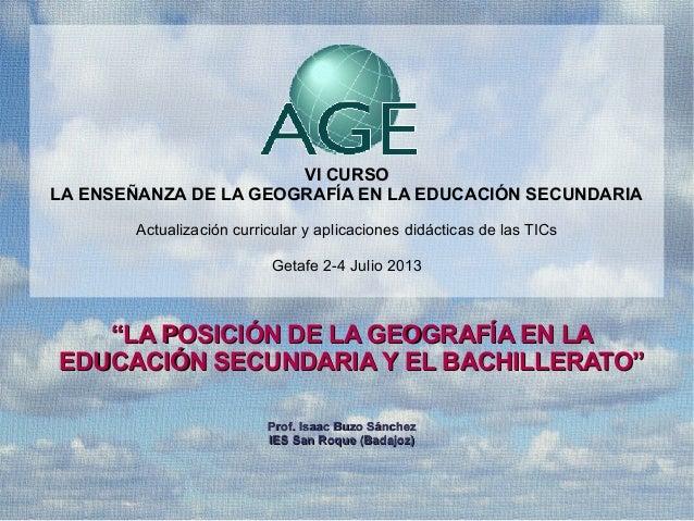 Presentación resultados de la Encuesta a profesores de Geografía AGE