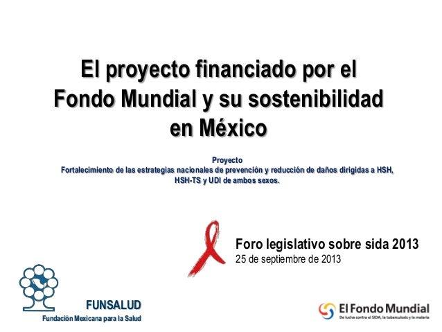 Proyecto Fortalecimiento de las estrategias nacionales de prevención y reducción de daños dirigidas a HSH, HSH-TS y UDI de...