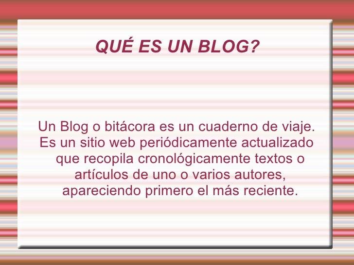 Presentaciones blog