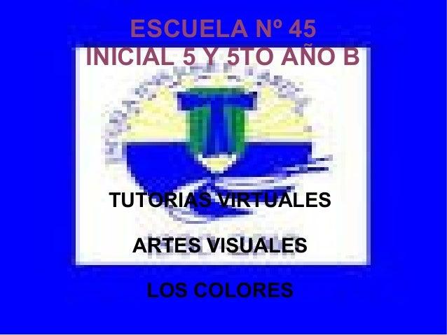 Presentacion escuela 45