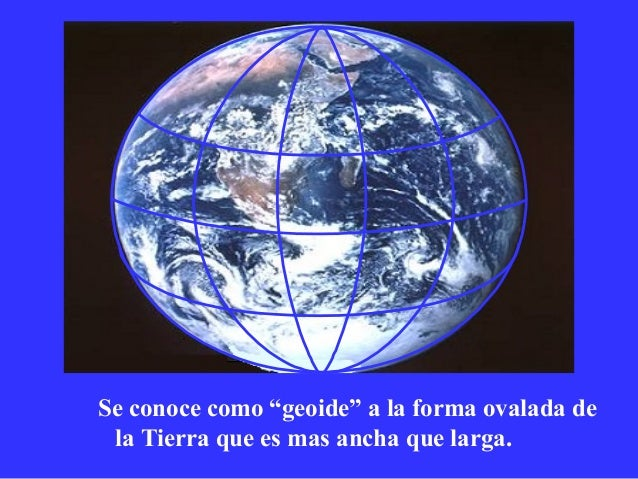 Resultado de imagen para La Tierra es un planeta ovalado