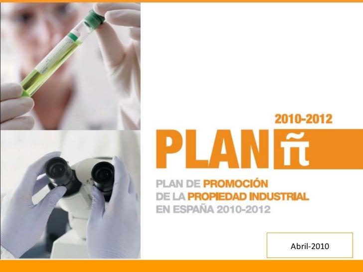 Plan de promoción de la Propiedad Intelectual