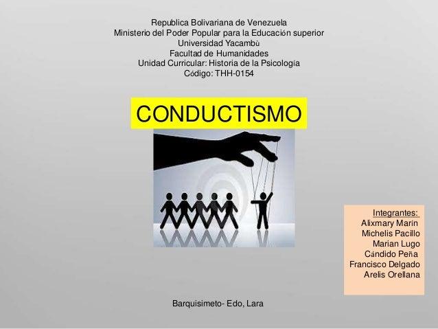 Republica Bolivariana de Venezuela Ministerio del Poder Popular para la Educación superior Universidad Yacambù Facultad de...