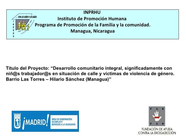 INPRHU Instituto de Promoción Humana