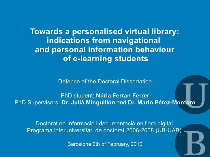 Towards a personalised virtual library:         indications from navigational       and personal information behaviour    ...