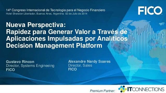 Nueva perspectiva: Rapidez para generar valor a través de aplicaciones impulsadas por analíticos.