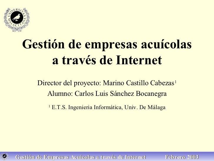 Gestión de empresas acuícolas a través de Internet