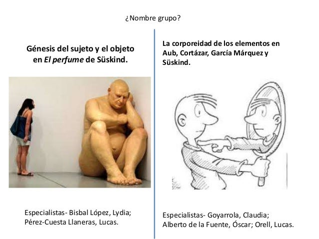 ¿Nombre grupo?Génesis del sujeto y el objetoen El perfume de Süskind.Especialistas- Bisbal López, Lydia;Pérez-Cuesta Llane...