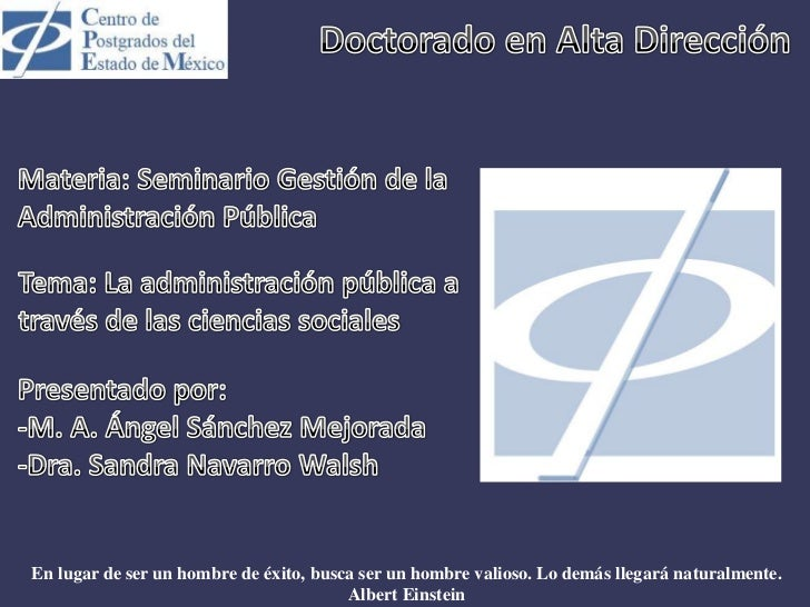ANÁLISIS HISTÓRICO DE TENDENCIAS EN GOBIERNO Y ADM. PUBLICA