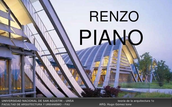 Presentacion final de renzo piano.. ººººº