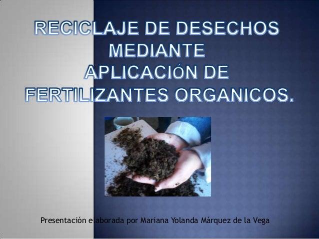 Presentación elaborada por Mariana Yolanda Márquez de la Vega