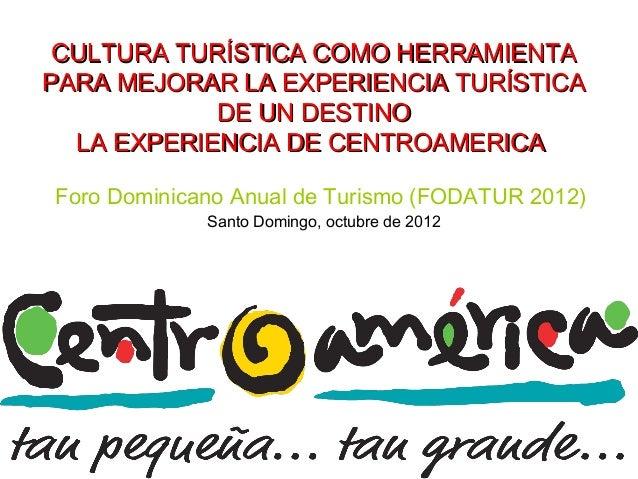 Presentación Mercedez Melendez - Fodatur 2012 - Día 2