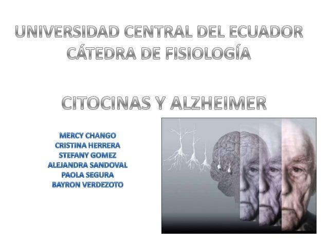 NEUROINFLAMACIÓN ACTIVACION MICROGLIAL DE INMUNOCITOCINAS  ALZHEIMER  LESIONES CEREBRALES  INFECCIONES SISTEMATICAS  EVEJE...