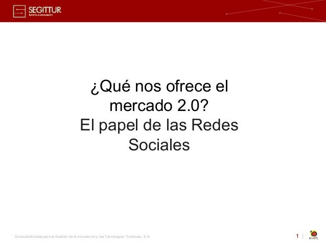 Papel de las Redes Sociales en el Turismo. 2009