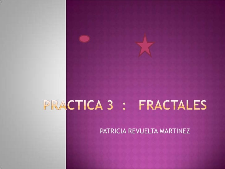 Presentacion Fractales