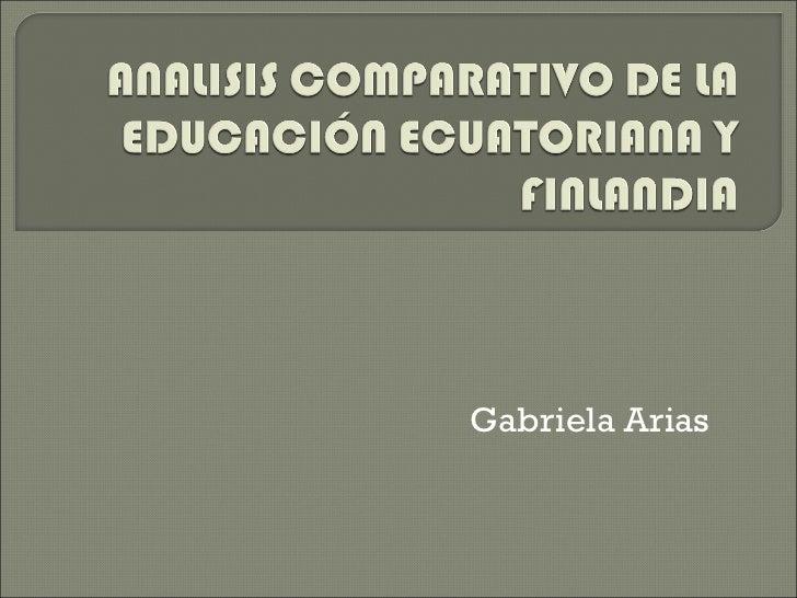 Gabriela Arias