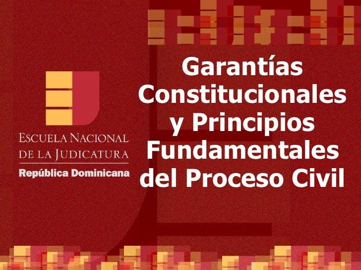 ENJ-400-Garantías Constitucionales y Principios Fundamentales del Proceso Civil