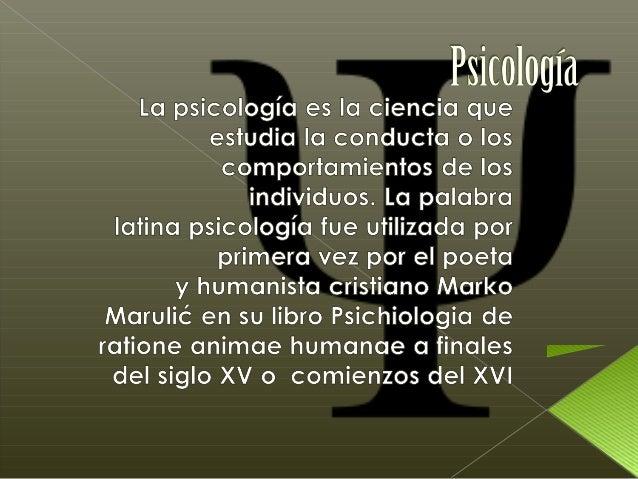 Las áreas de la psicologíaLas áreas de la psicologíapueden también describirse enpueden también describirse entérminos d...
