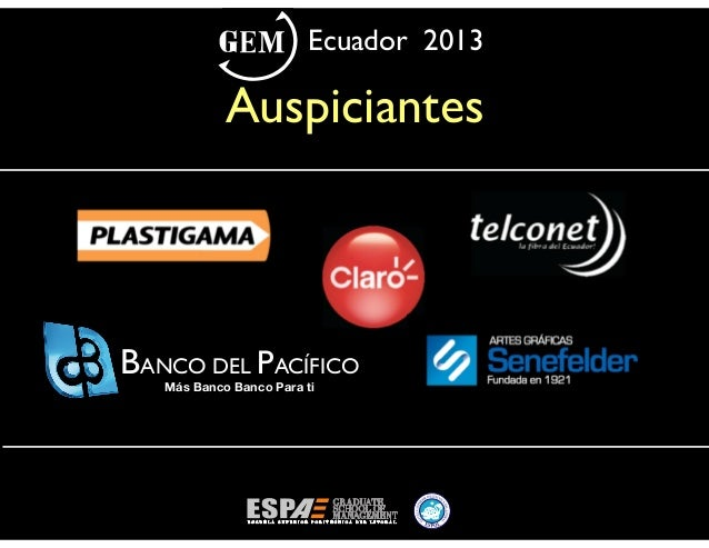 Global Entrepreneurship Monitor GEM Ecuador 2013
