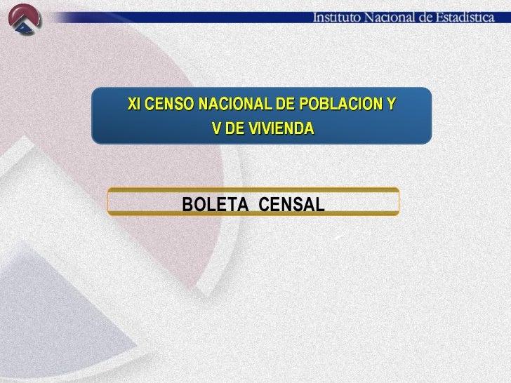 BOLETA  CENSAL