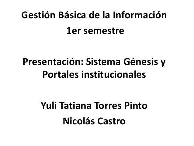 Presentacion gestion basica de la informacion