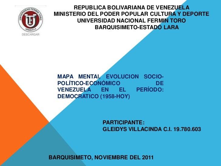 REPUBLICA BOLIVARIANA DE VENEZUELA MINISTERIO DEL PODER POPULAR CULTURA Y DEPORTE        UNIVERSIDAD NACIONAL FERMIN TORO ...