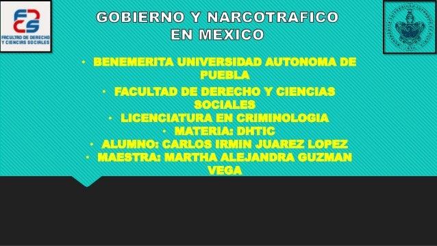 • BENEMERITA UNIVERSIDAD AUTONOMA DE PUEBLA • FACULTAD DE DERECHO Y CIENCIAS SOCIALES • LICENCIATURA EN CRIMINOLOGIA • MAT...